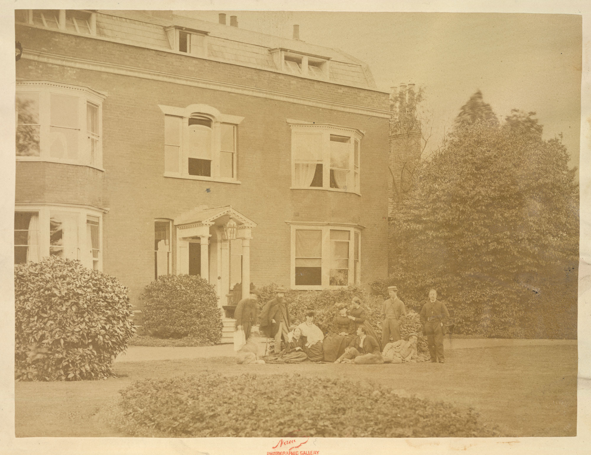 Photograph of Gad's Hill Place, Charles Dickens and group [page: unspecified]