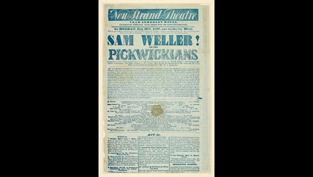 Playbill for The New Strand Theatre advertising 'Sam Weller! Or the Pickwickians' [page: 22]