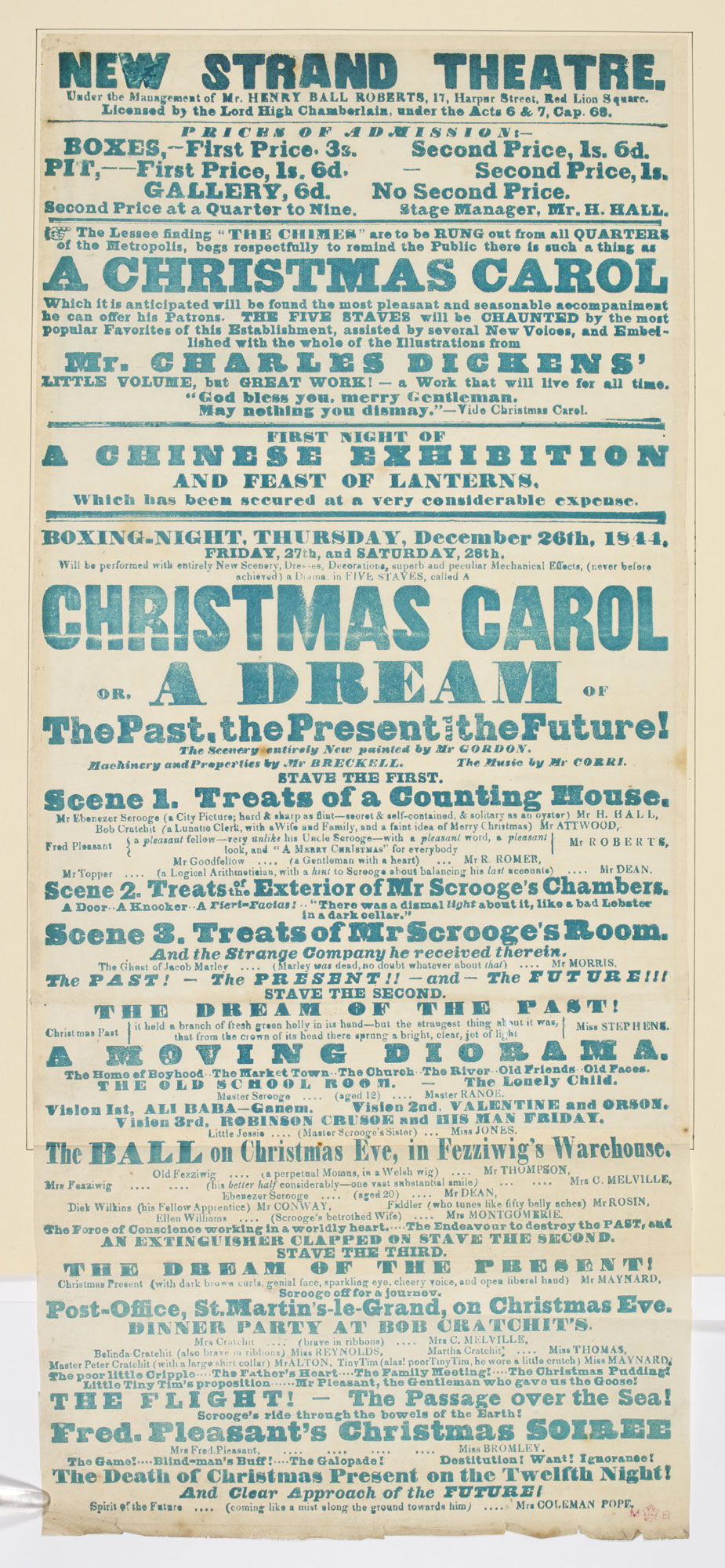 Playbill for the New Strand Theatre advertising Charles Webb's adaptation of 'A Christmas Carol' [page: 119]