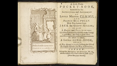 A Pretty Little Pocket Book [page: frontispiece and title page]