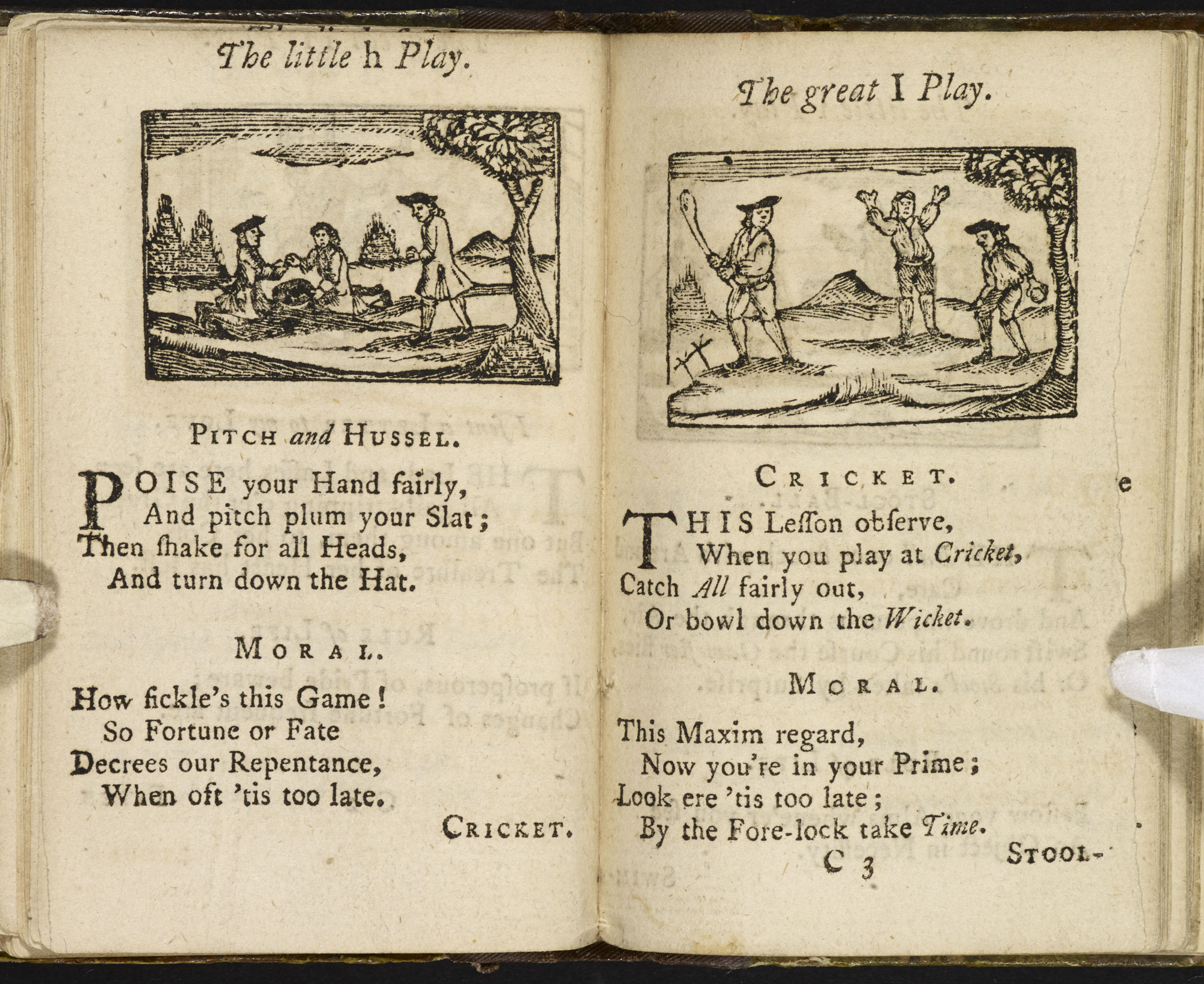 A Pretty Little Pocket Book [page: ['The little h Play'] and ['The great I Play']]