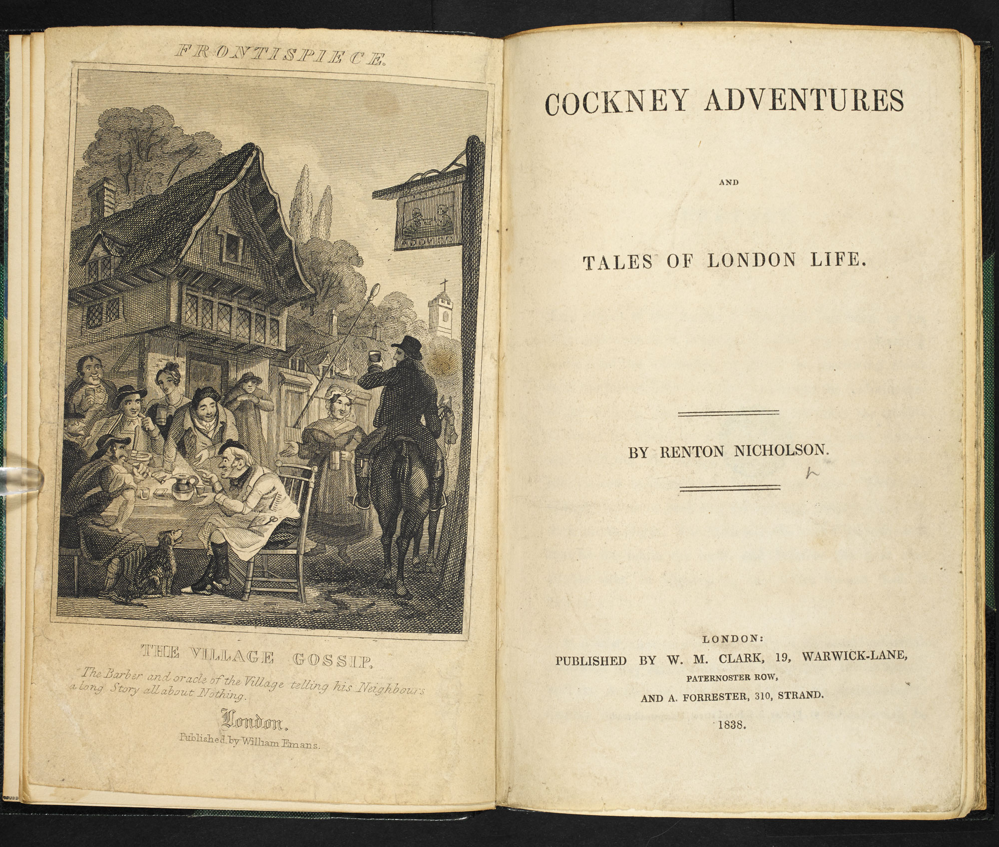 Penny dreadful, Cockney Adventures [page: frontispiece and title page]