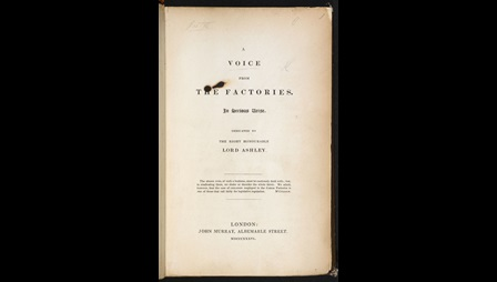 A Voice from the Factories, a poem by Caroline Norton about 19th century child labour [page: title page]