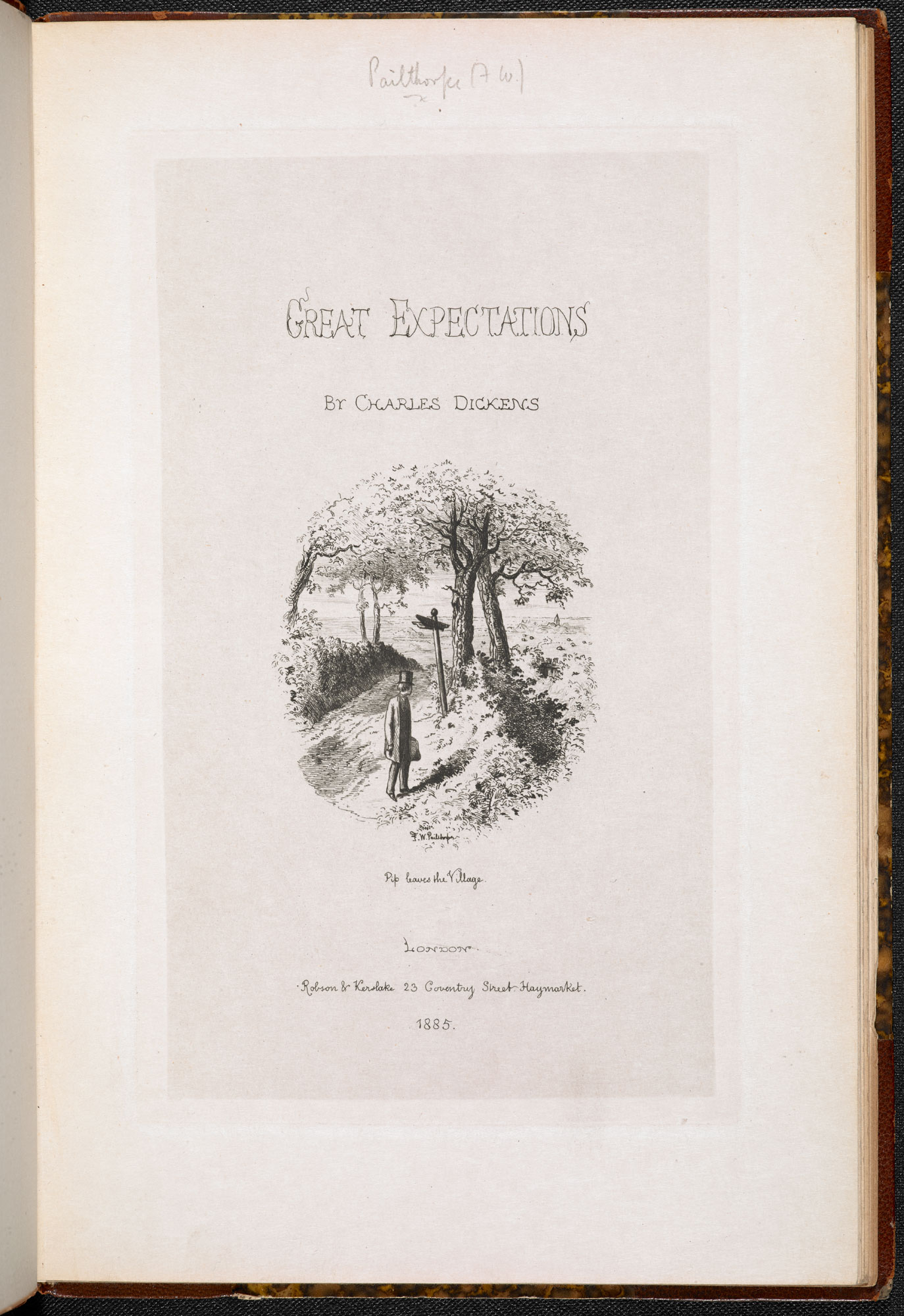 F W Pailthorpe's illustrations to Great Expectations [page: title page]