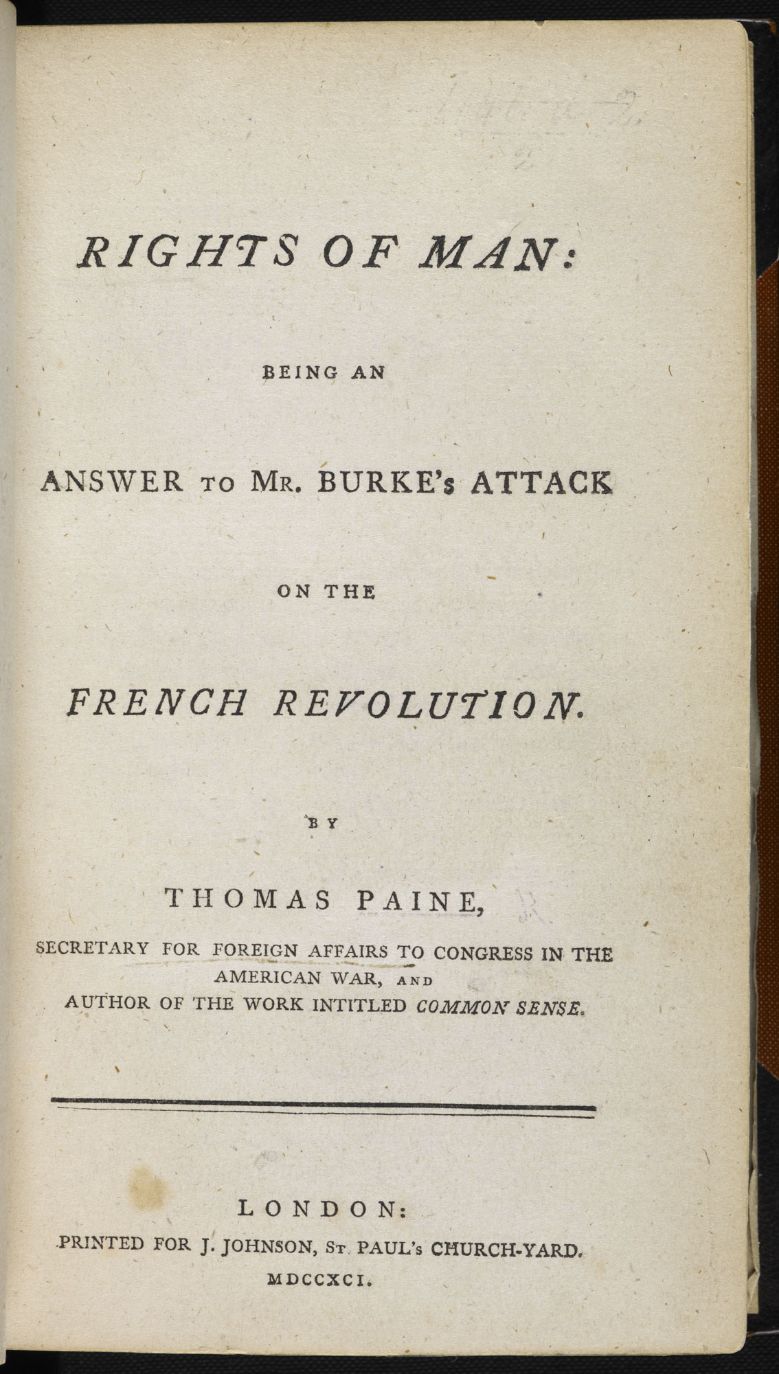 Rights of Man by Thomas Paine [page:title page]