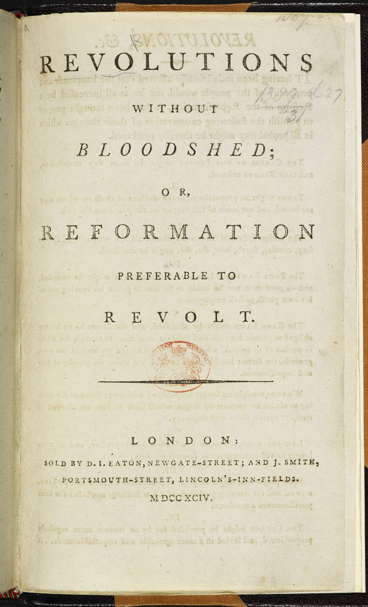 Revolutions without Bloodshed [page: title page]