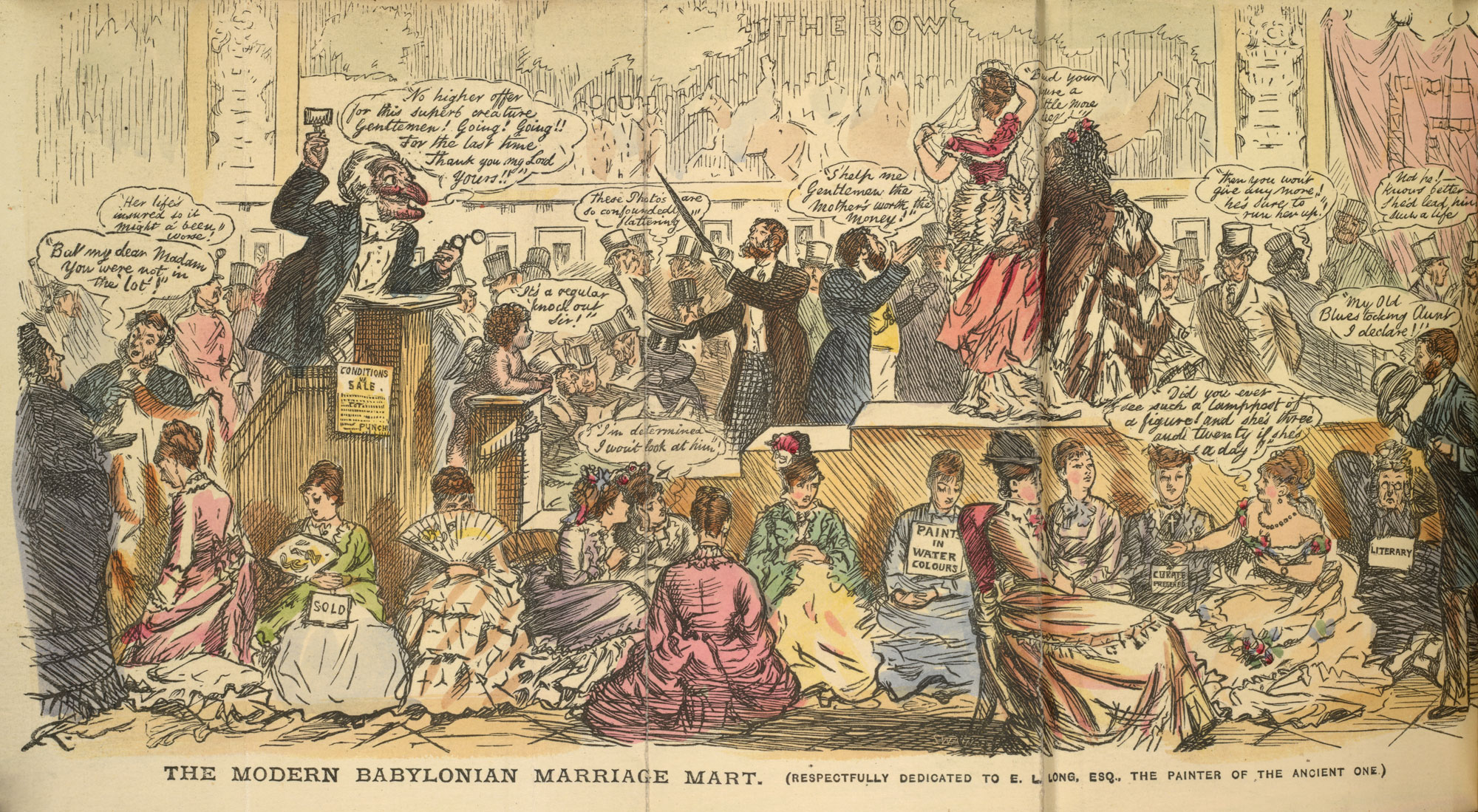 The Modern Babylonian Marriage Mart' from Punch's Pocket-Book [page: frontispiece]