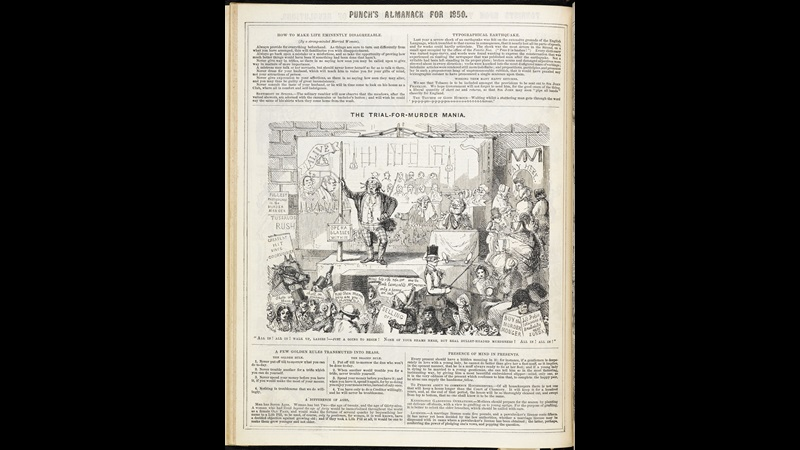 The Trial-for-Murder Mania' from Punch's Almanack [page: ['The Trial-for-Murder Mania' ]]