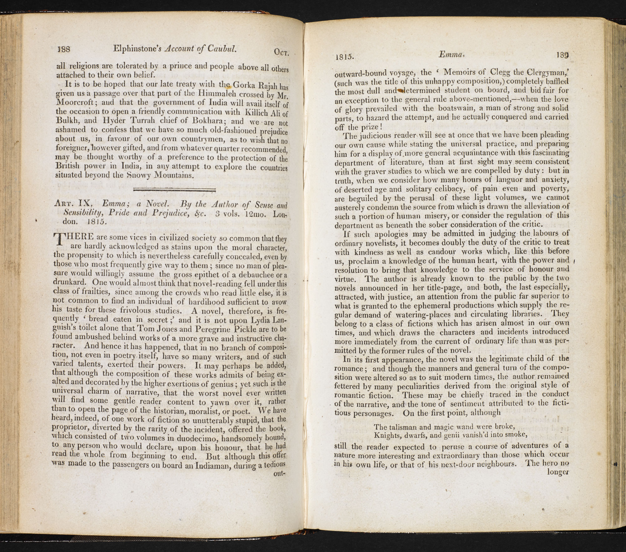 Review of Emma in the Quarterly Review, 1815 [page: 188-89]