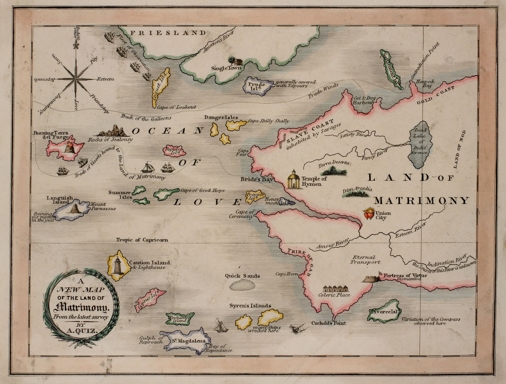 Map of the land of matrimony - The British Library