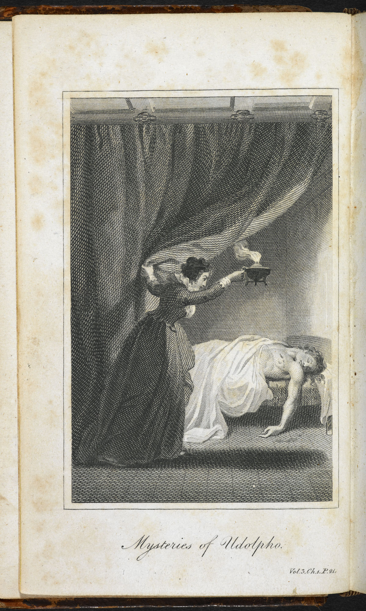 The Mysteries of Udolpho [page: vol. III frontispiece]