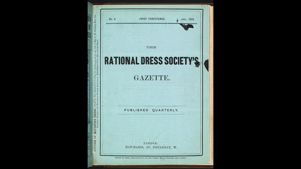 The Rational Dress Society's Gazette [page: no. 4 front cover]