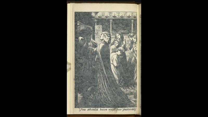Two illustrations by D G Rossetti for Christina Rossetti's The Prince's Progress [page: frontispiece]