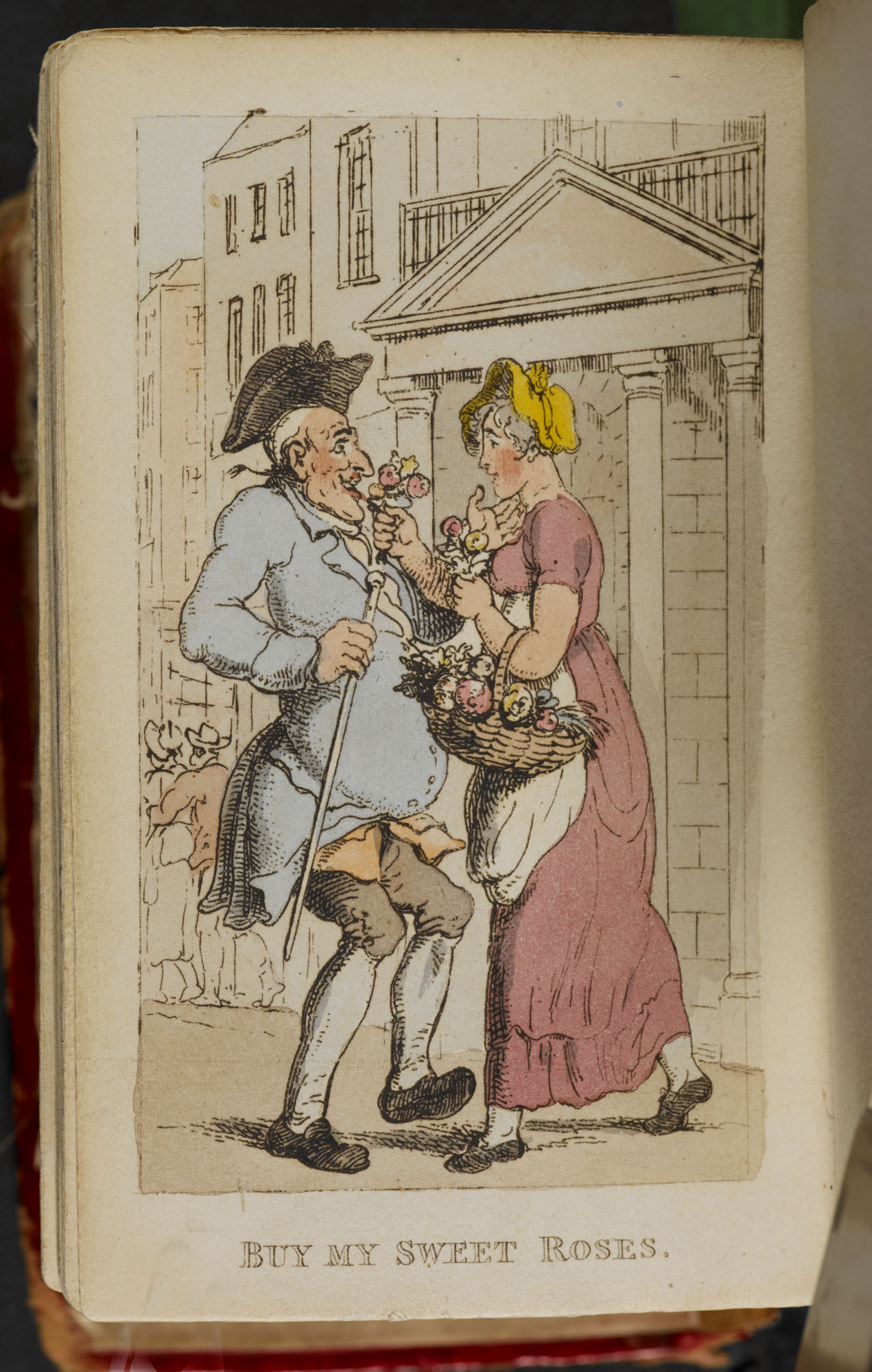 Rowlandson's Characteristic Sketches of the Lower Orders [page: ['Buy my Sweet Roses']]