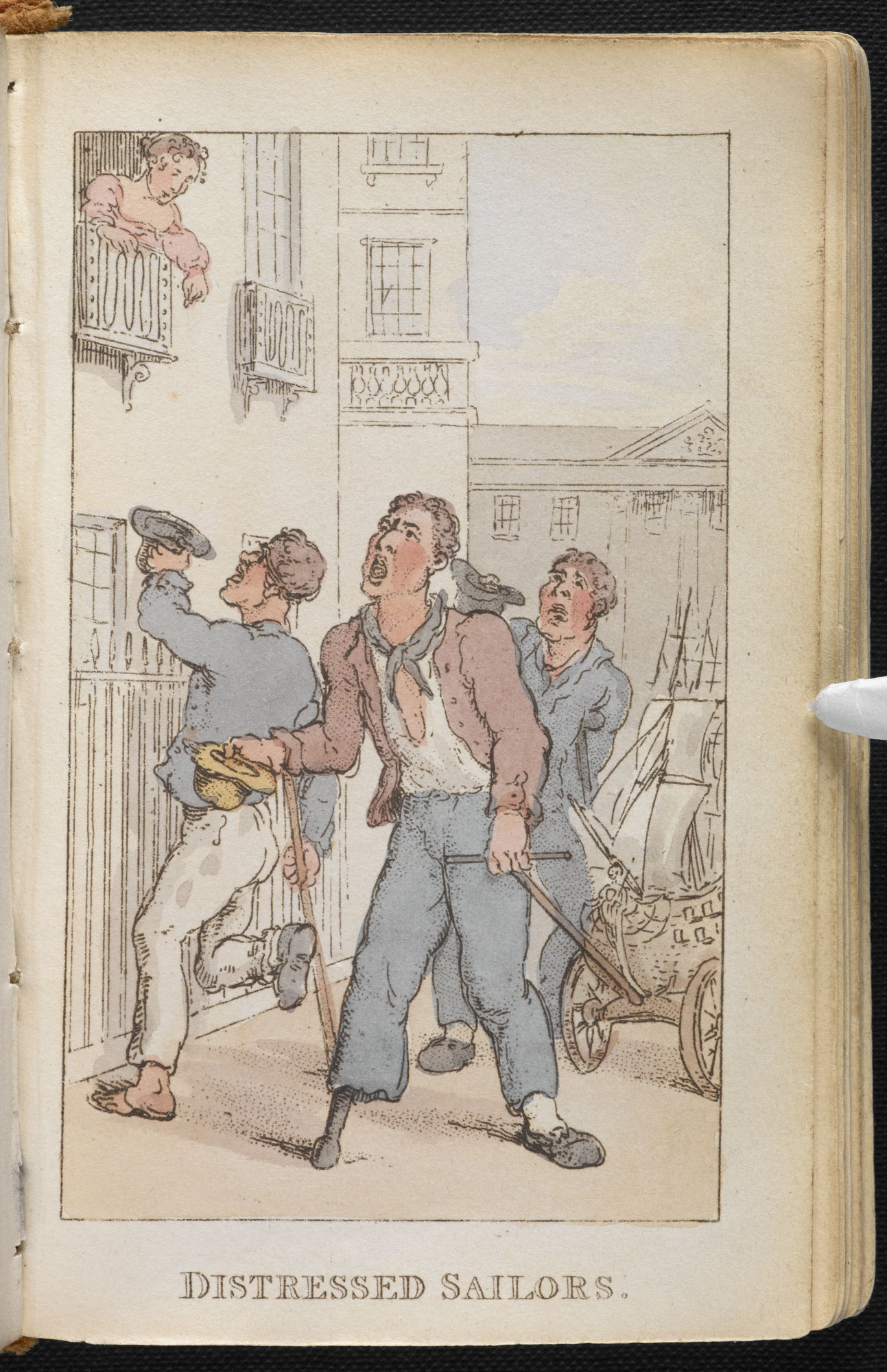 Rowlandson's Characteristic Sketches of the Lower Orders [page: ['Distressed sailors']]