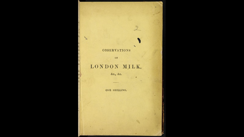 Observations on London Milk [page: front cover]