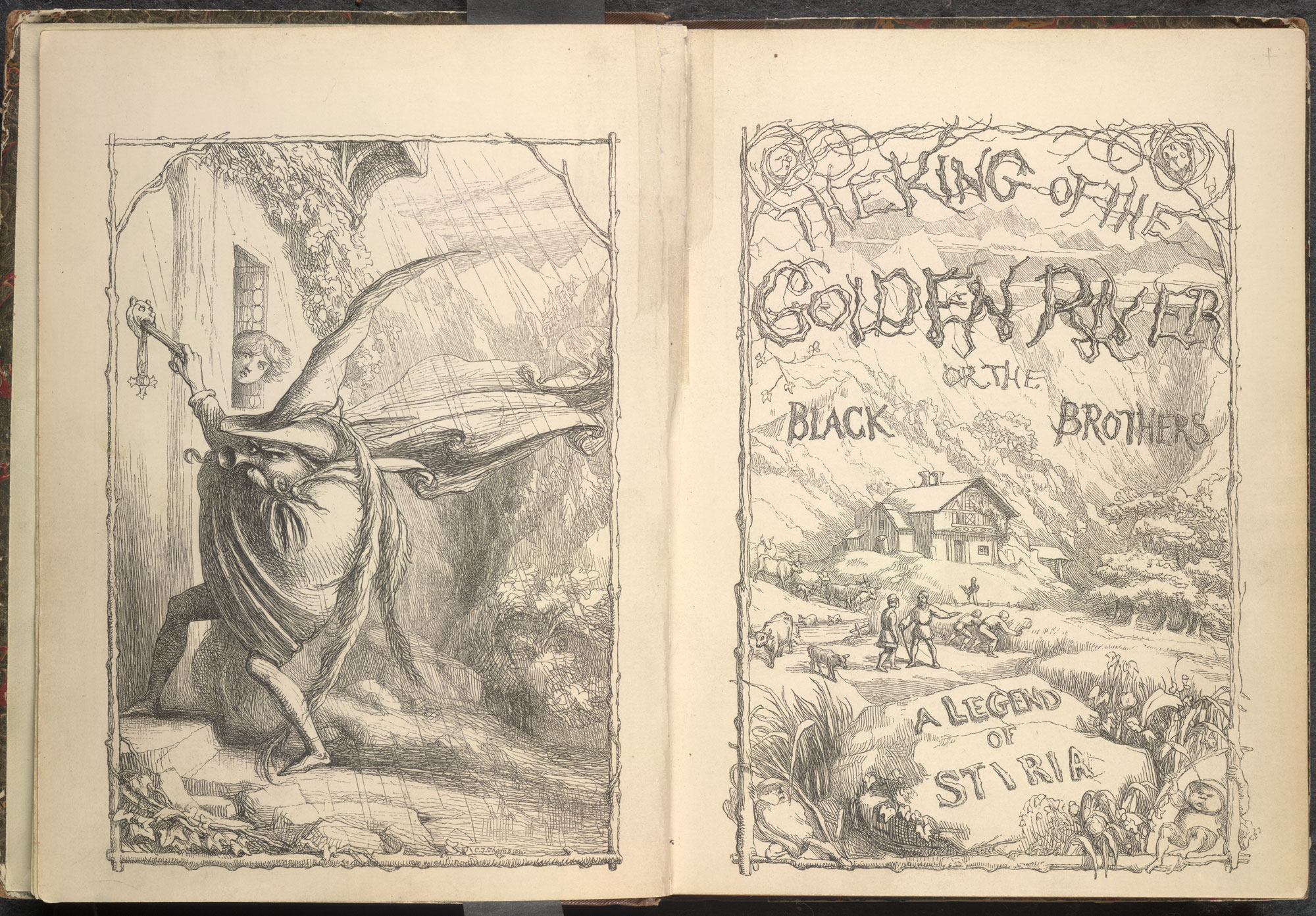 John Ruskin's fairytale for children, The King of the Golden River [page: title page]