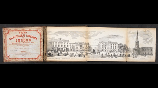 Grand architectural panorama of London [page: front cover and [part 1]]