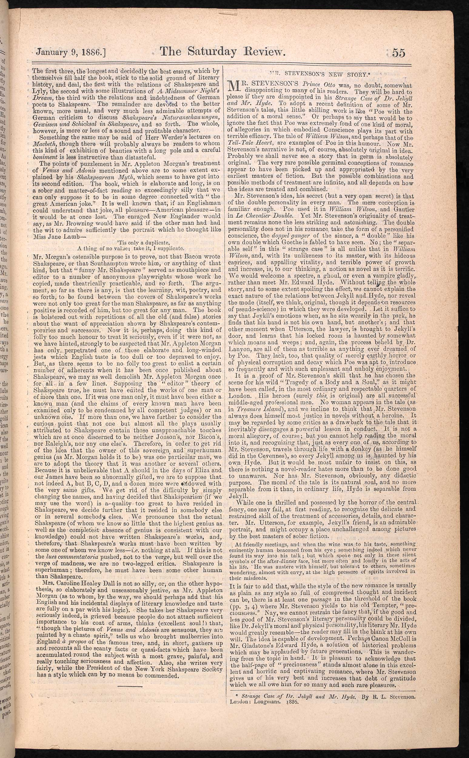 Andrew Lang's review of Strange Case of Dr Jekyll and Mr Hyde [page: 55]