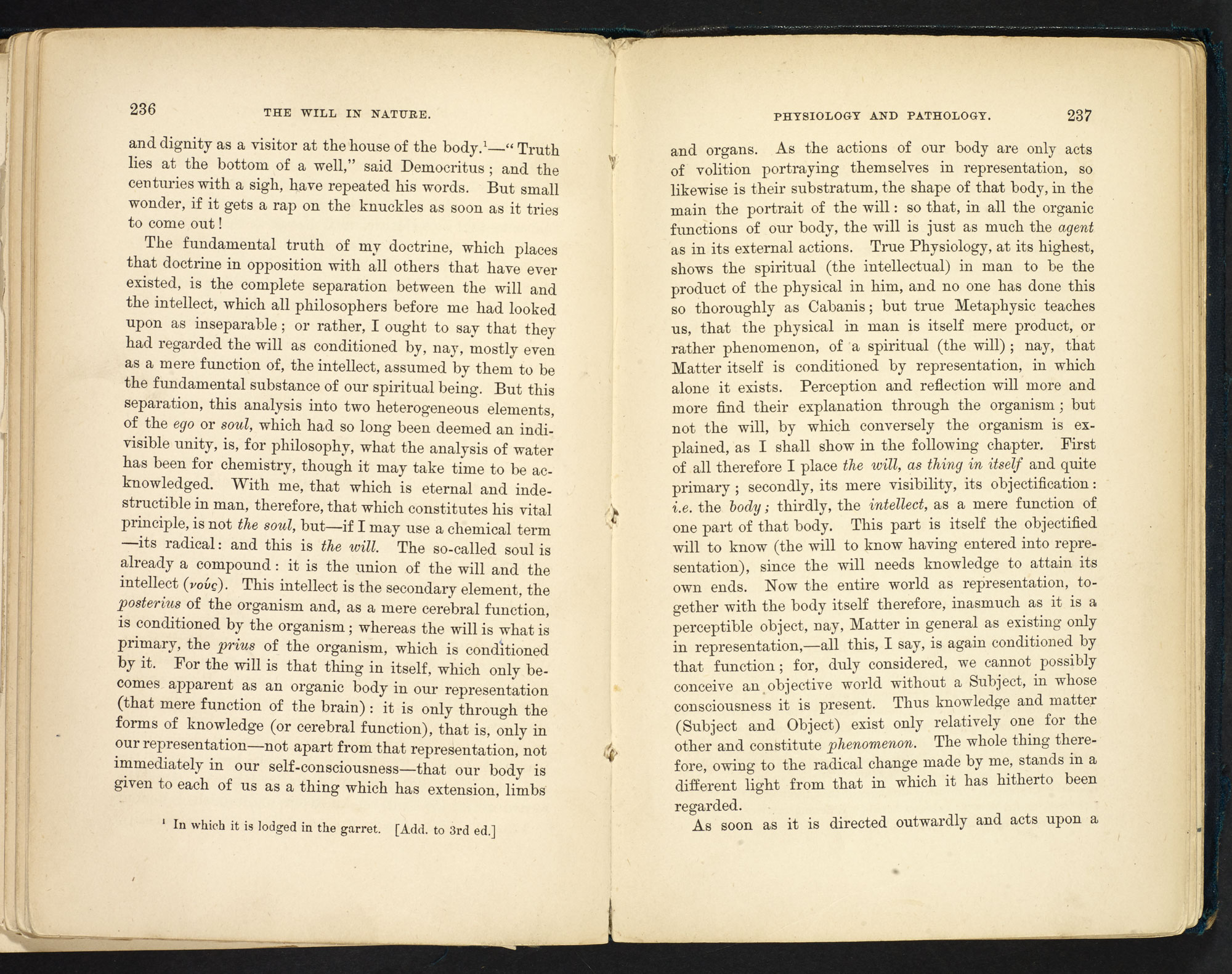Essay by Schopenhauer about reason and will - The British Library
