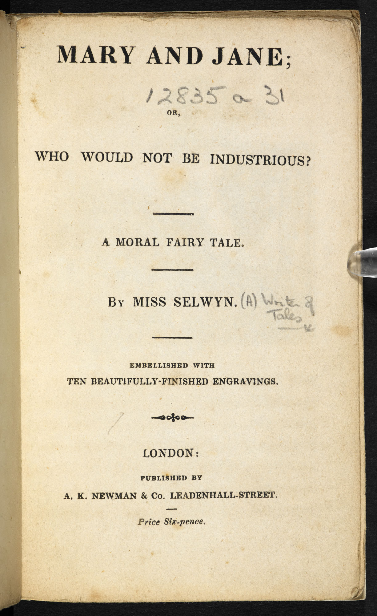 Miss Selwyn's Mary and Jane [page: title page]