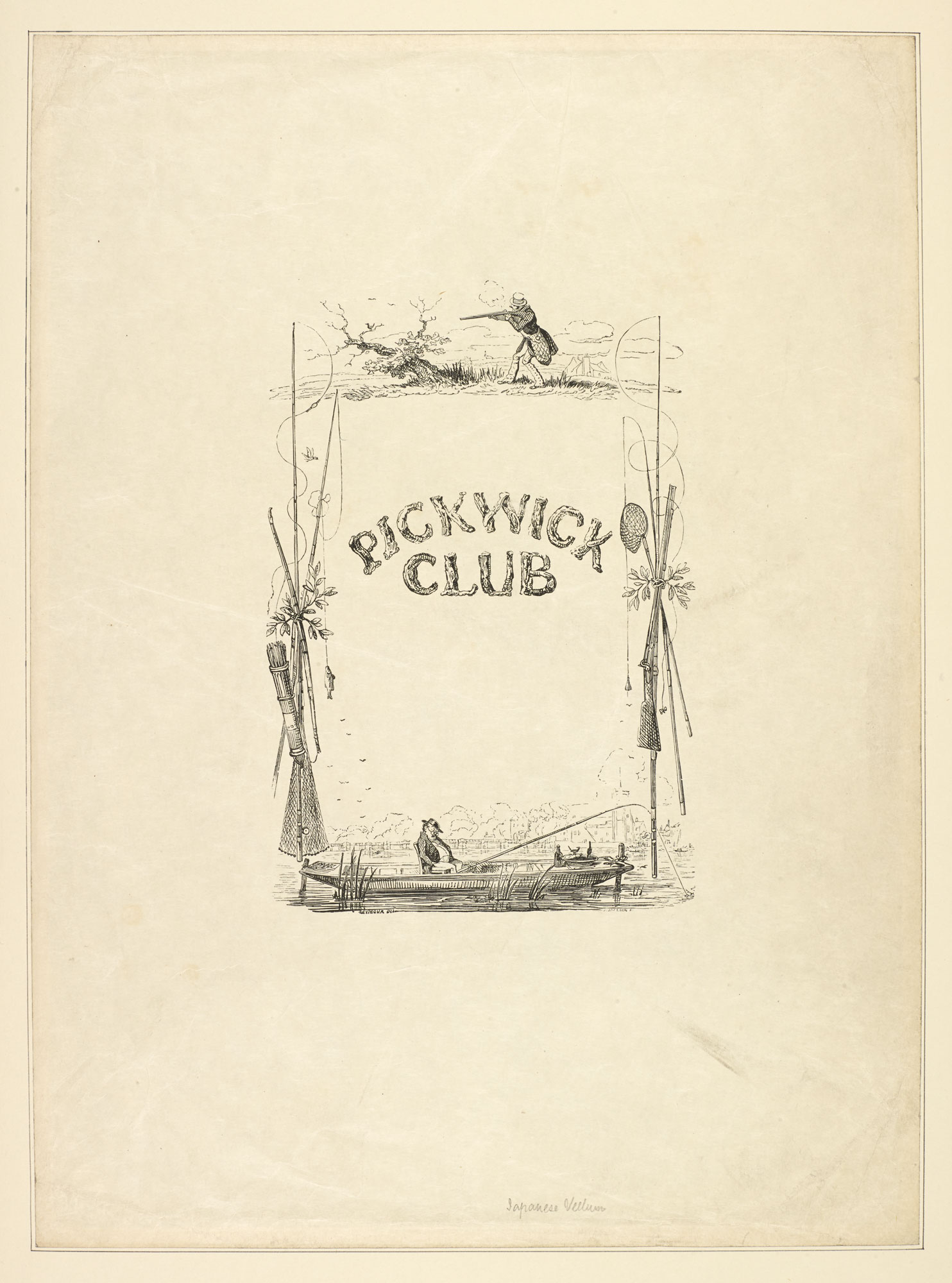 Engraved cover design for Dickens's Pickwick Papers [page: 16]