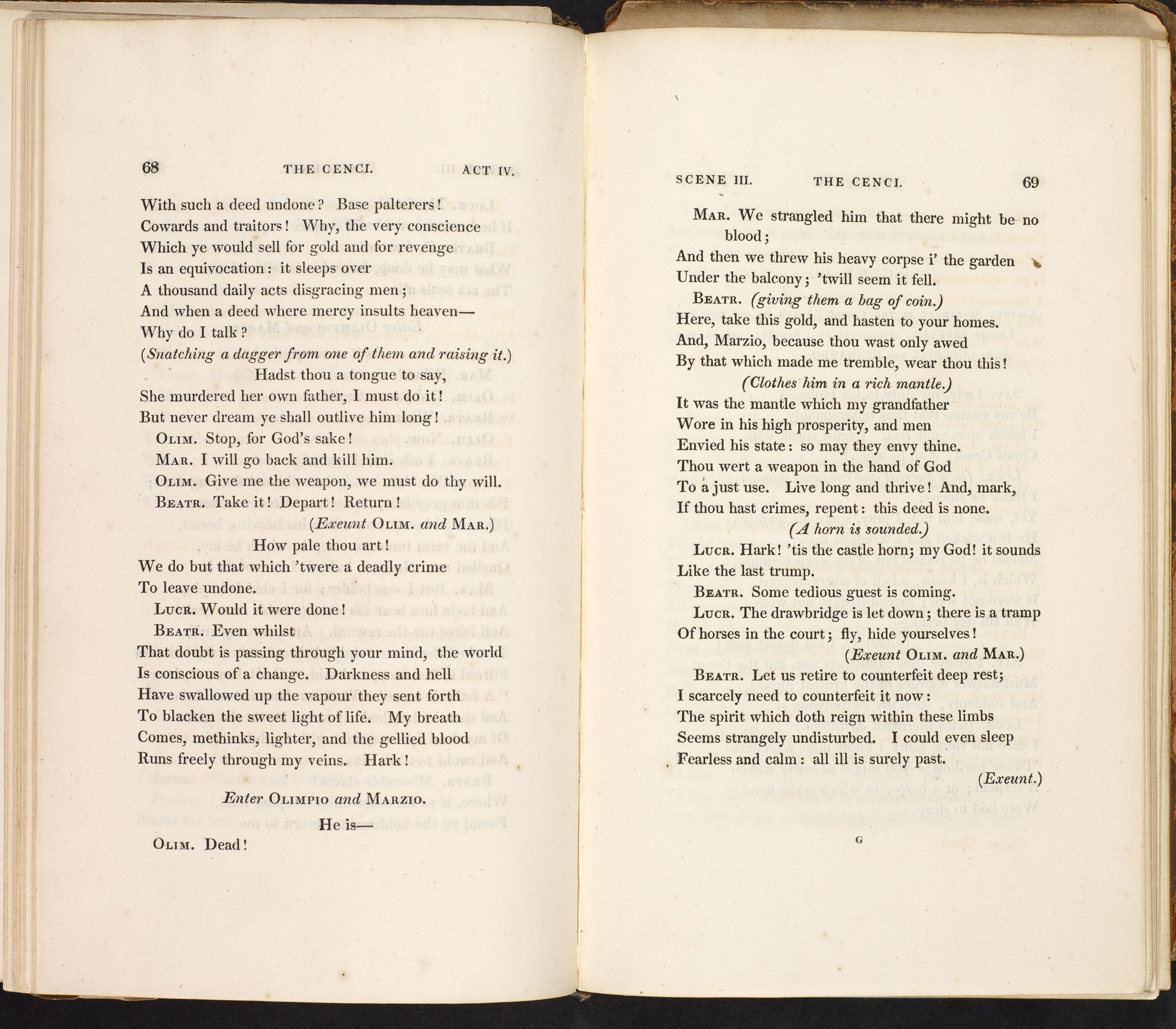 The Cenci by P B Shelley [page: 68-69]