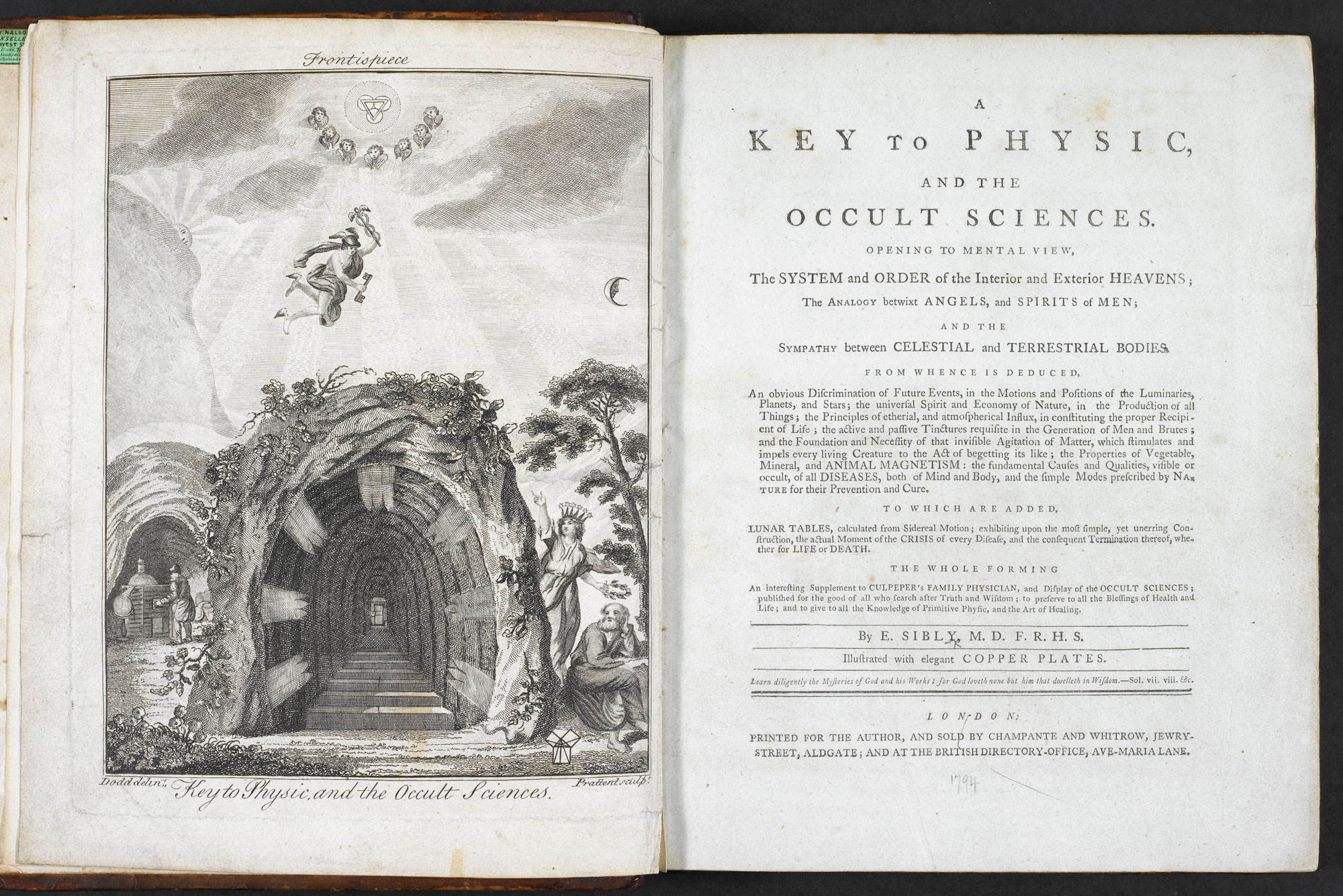A Key to Physic, and the Occult Sciences [page: frontispiece and title page]