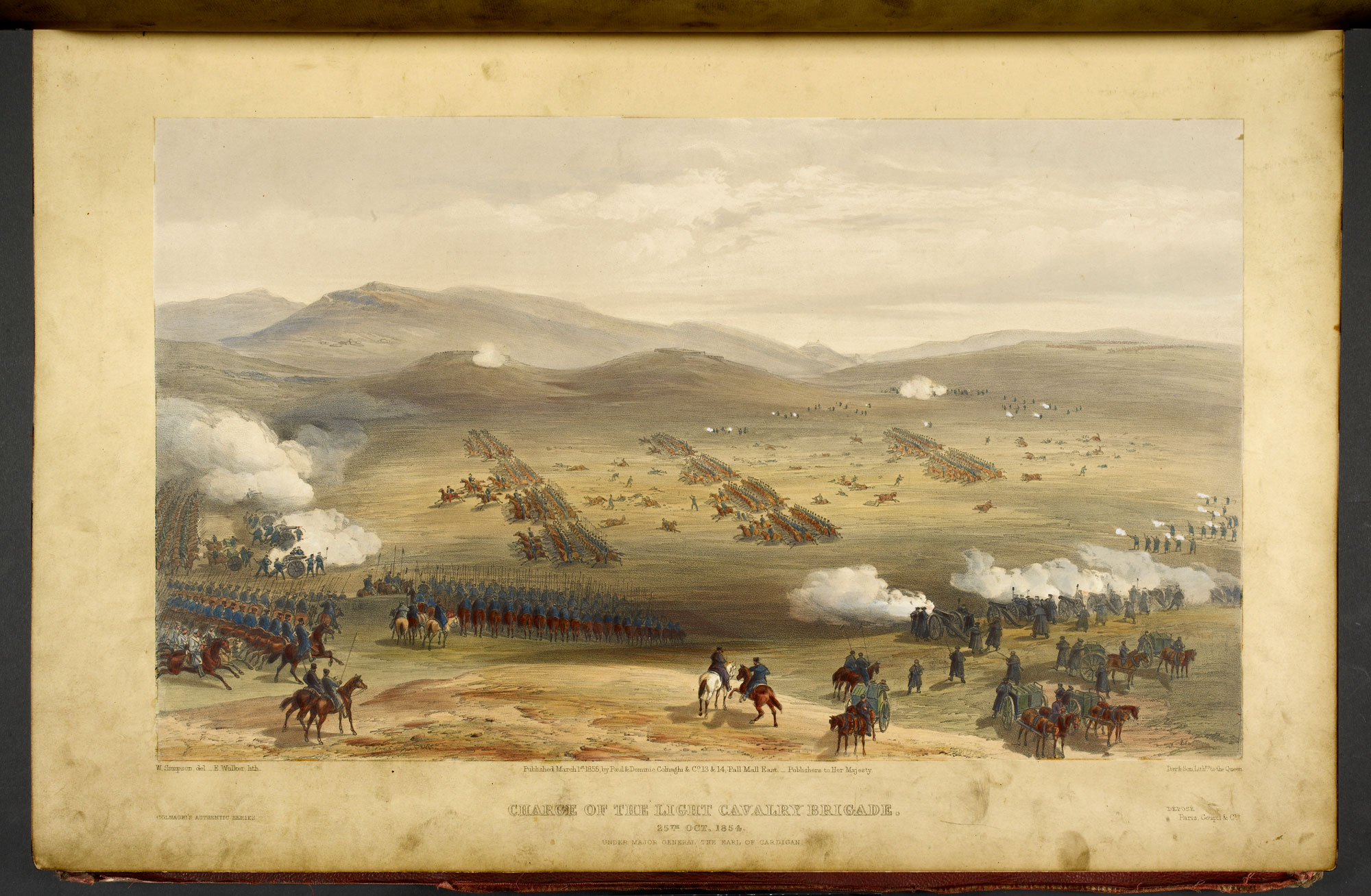 William Simpson's illustration of the Charge of Light Brigade [page: plate 15]
