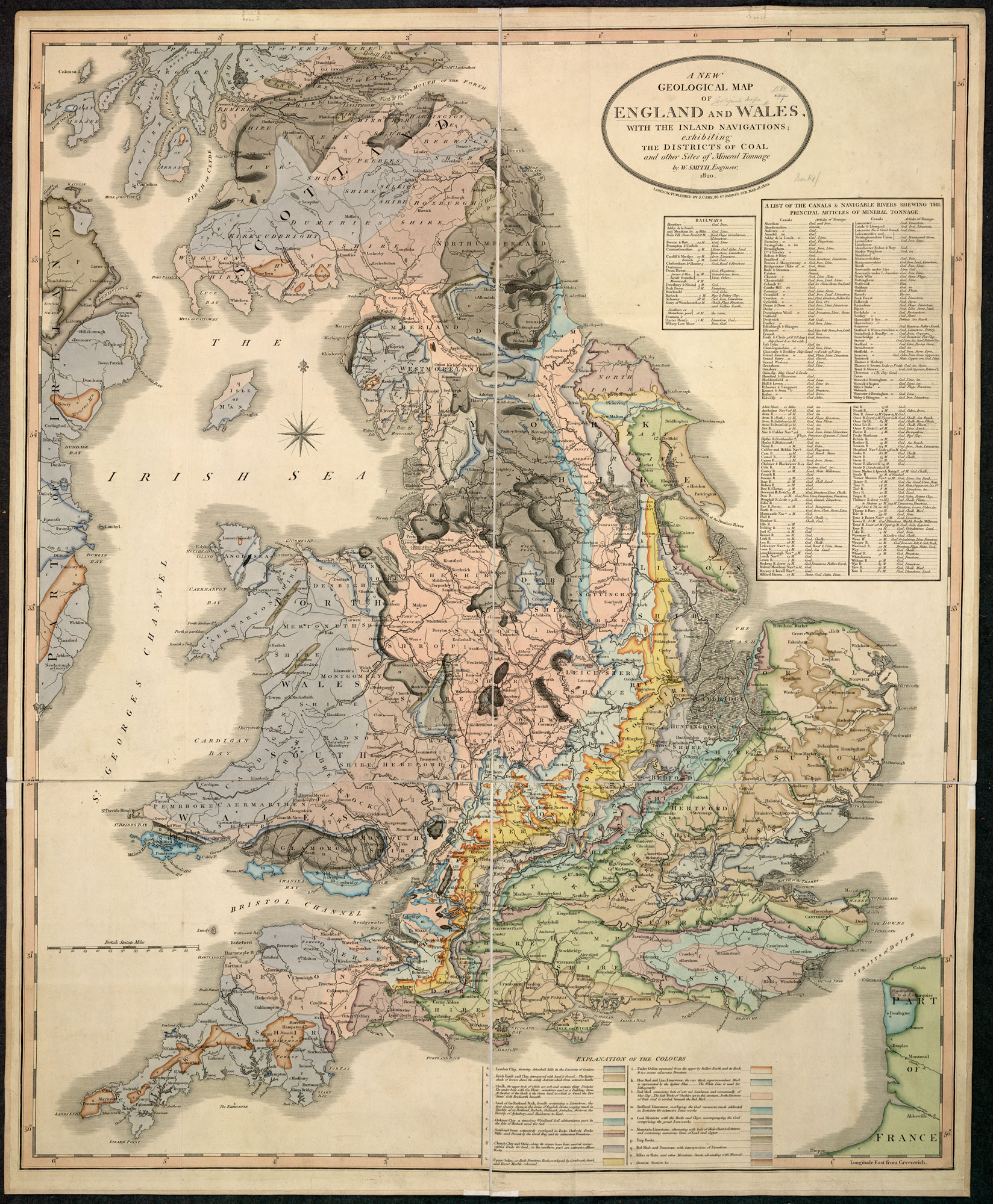 Geological map of England, showing coal-mining districts [page: 0]