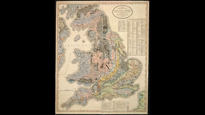 Geological map of England, showing coal-mining districts