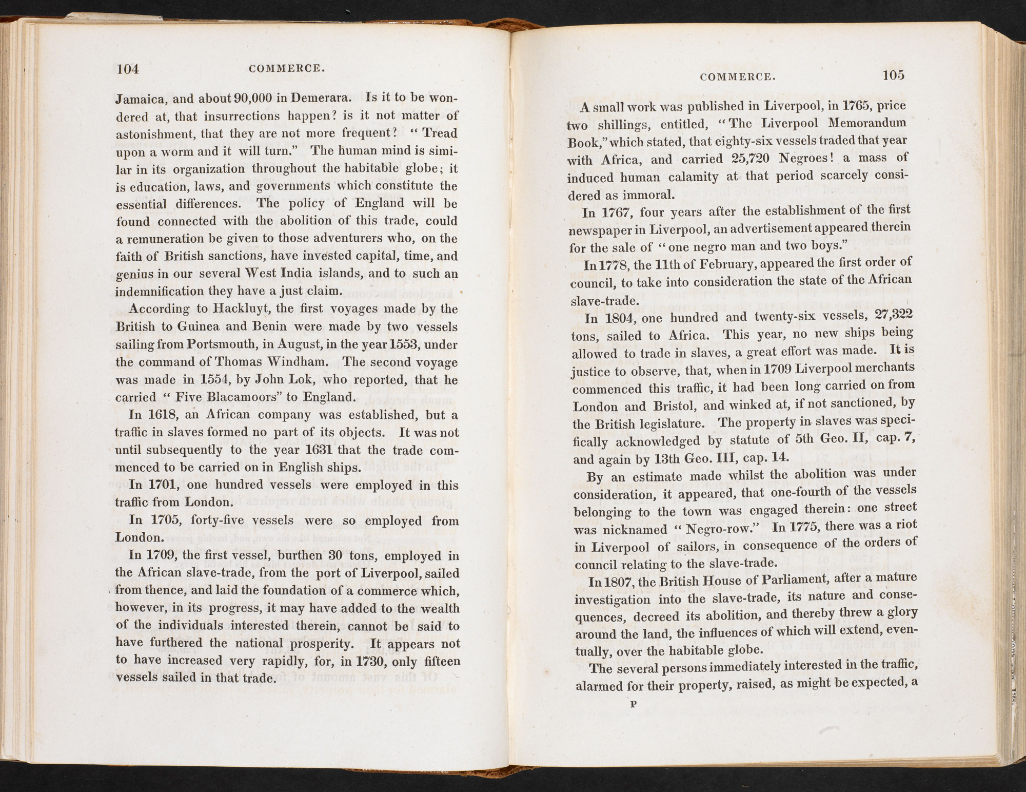 Account of the Liverpool slave trade [page: 104-05]