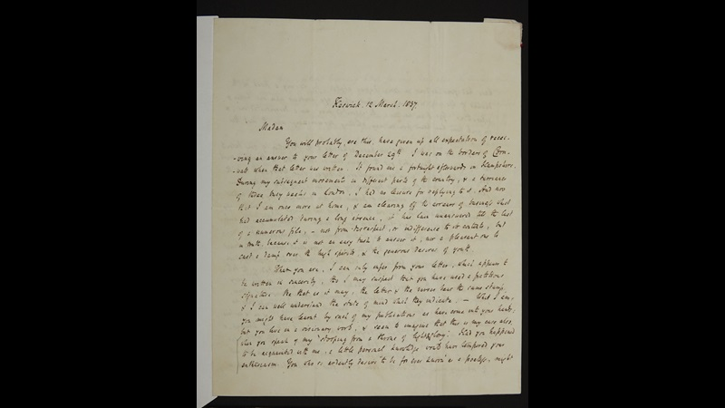 Letter from Robert Southey to Charlotte Bronte, 12 March 1837 [folio: 0]