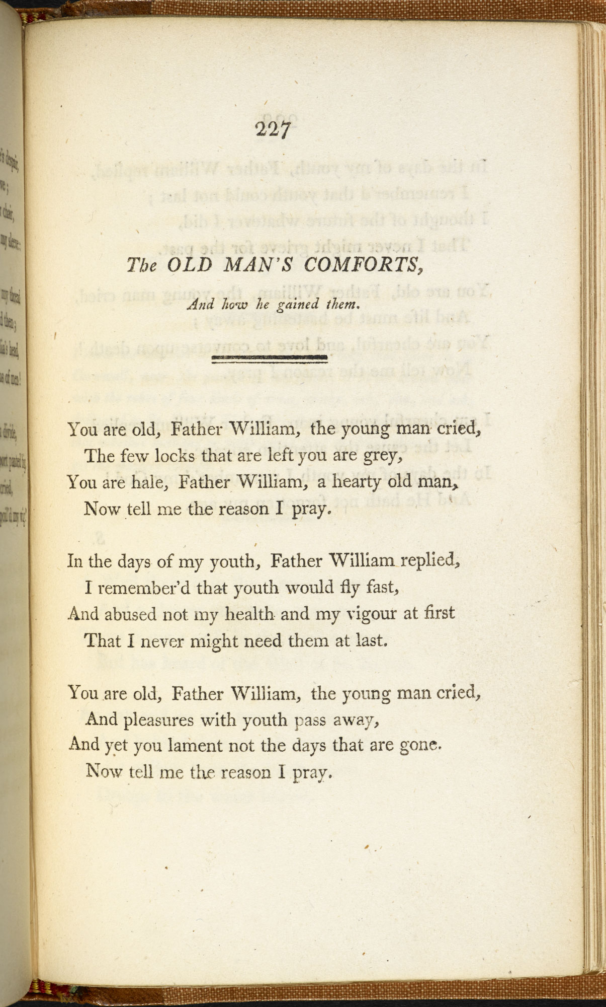 The Old Man's Comforts' by Robert Southey from The Annual Anthology [page: 227]