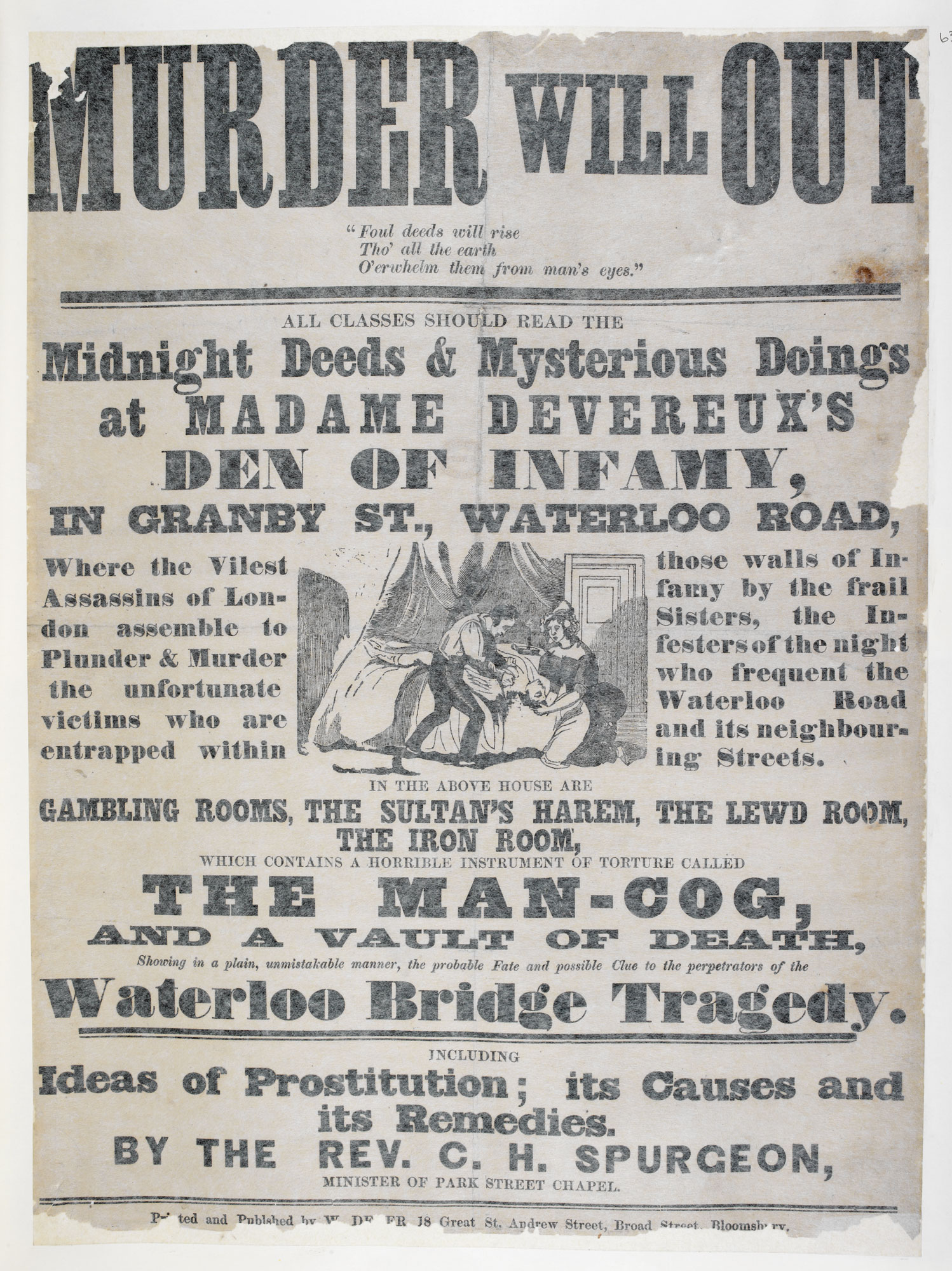 Broadside on the 'Waterloo Bridge Tragedy' - The British Library