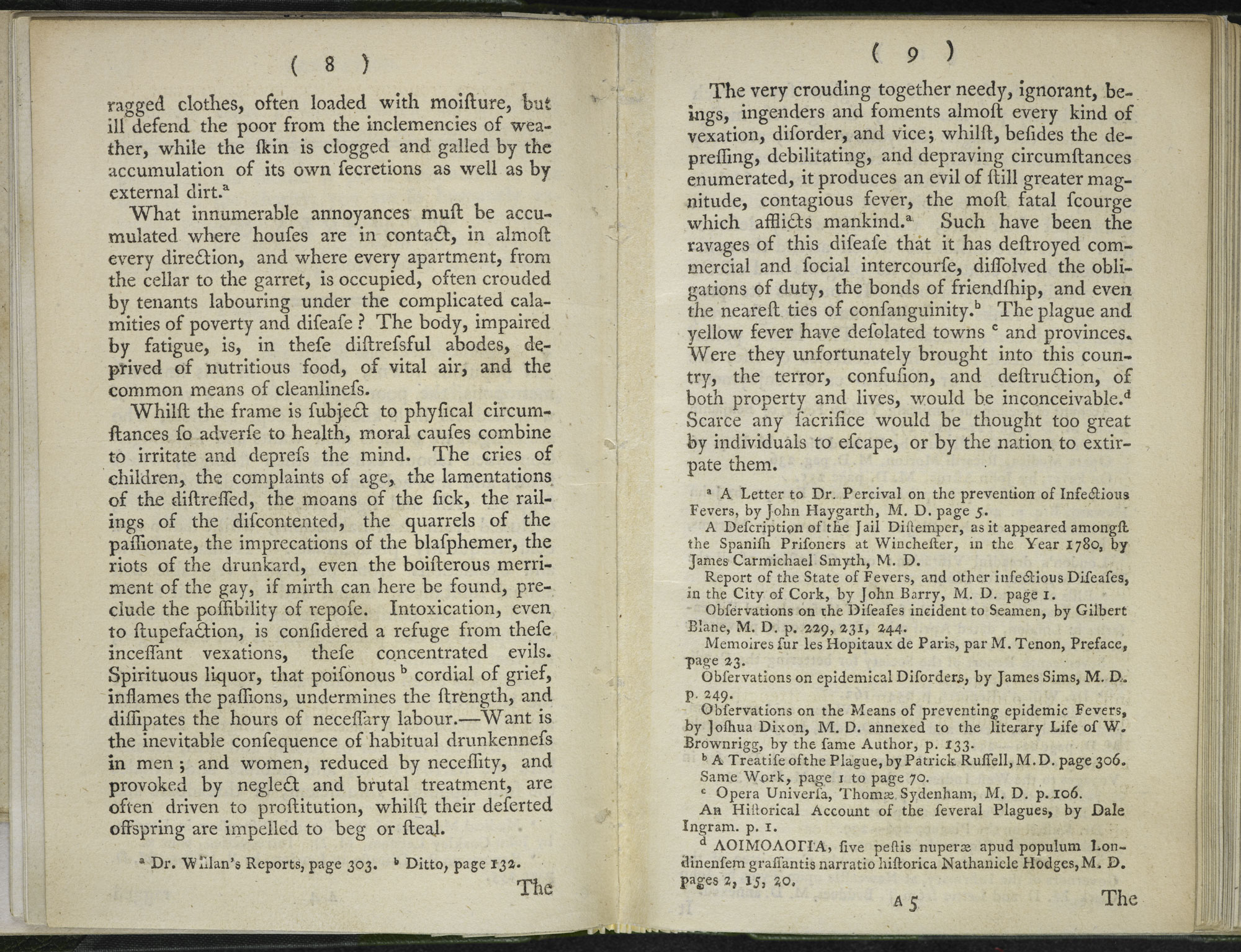 Remarks on the Necessity and means of suppressing Contagious fever in the Metropolis [page: 8-9]