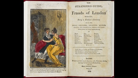 The Stranger's Guide, or Frauds of London Detected [page: frontispiece and title page]