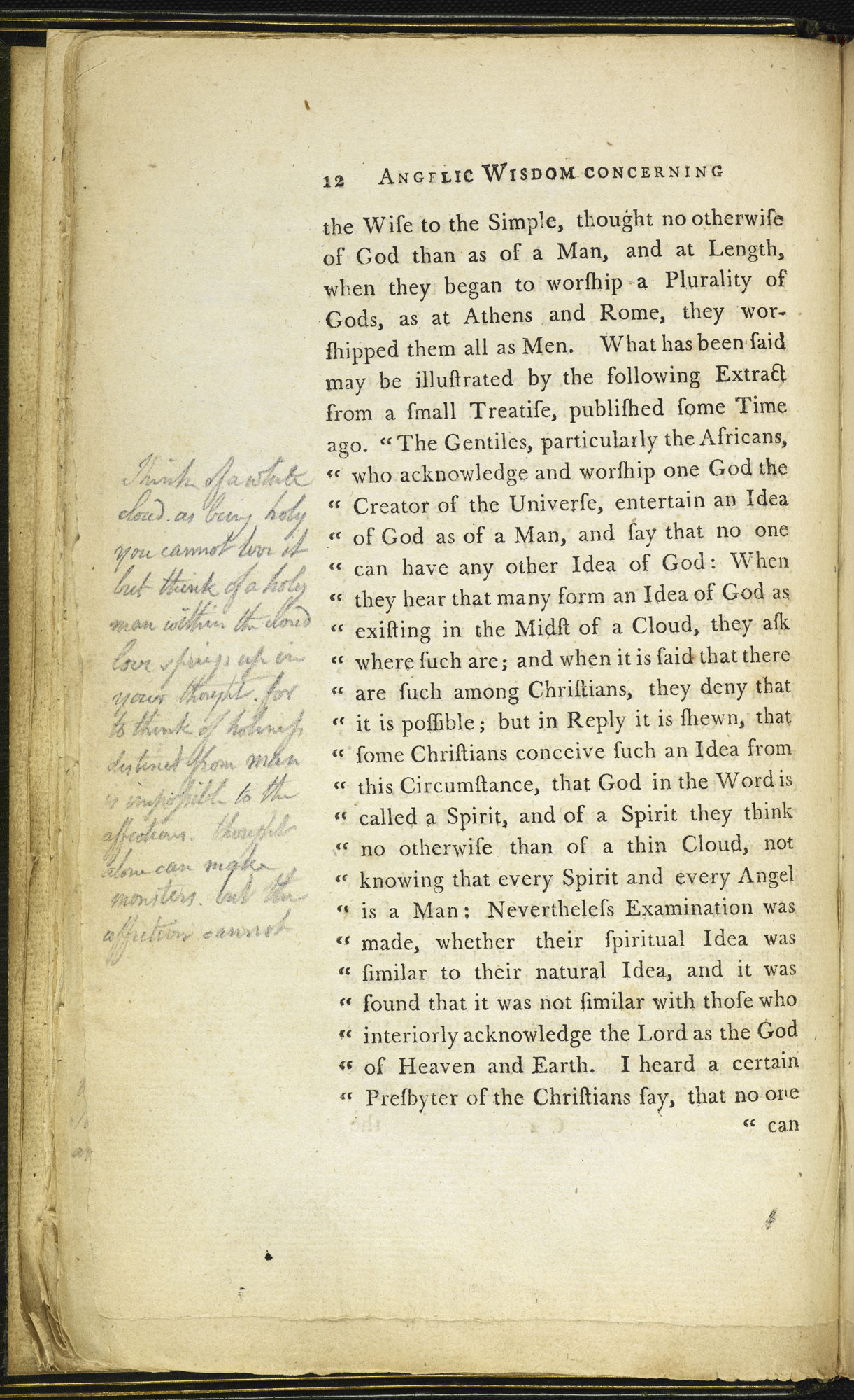 Swedenborg's The Wisdom of Angels with manuscript notes by William Blake