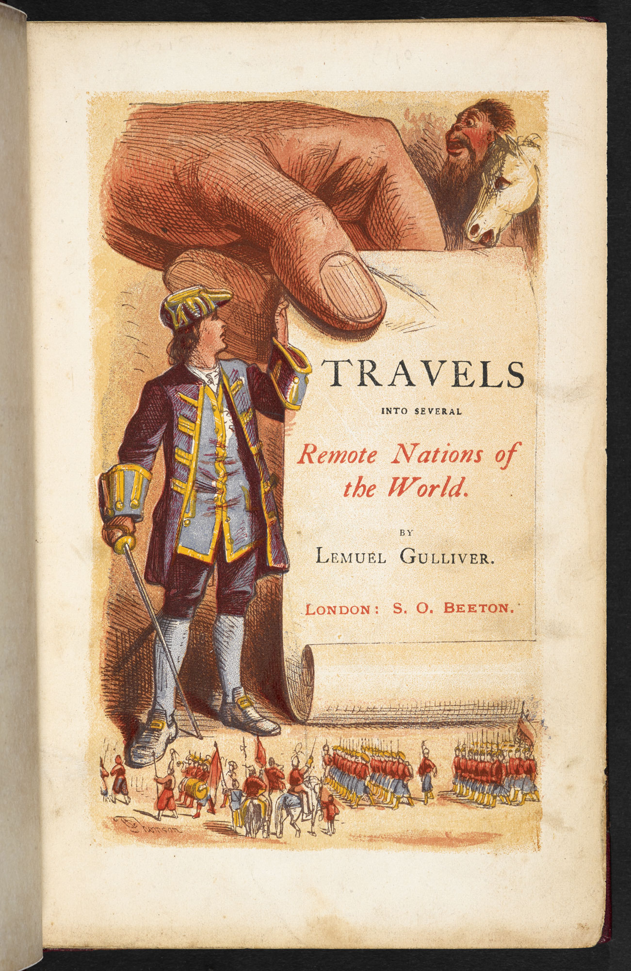 1864 illustrated edition of Gulliver's Travels [page: frontispiece]