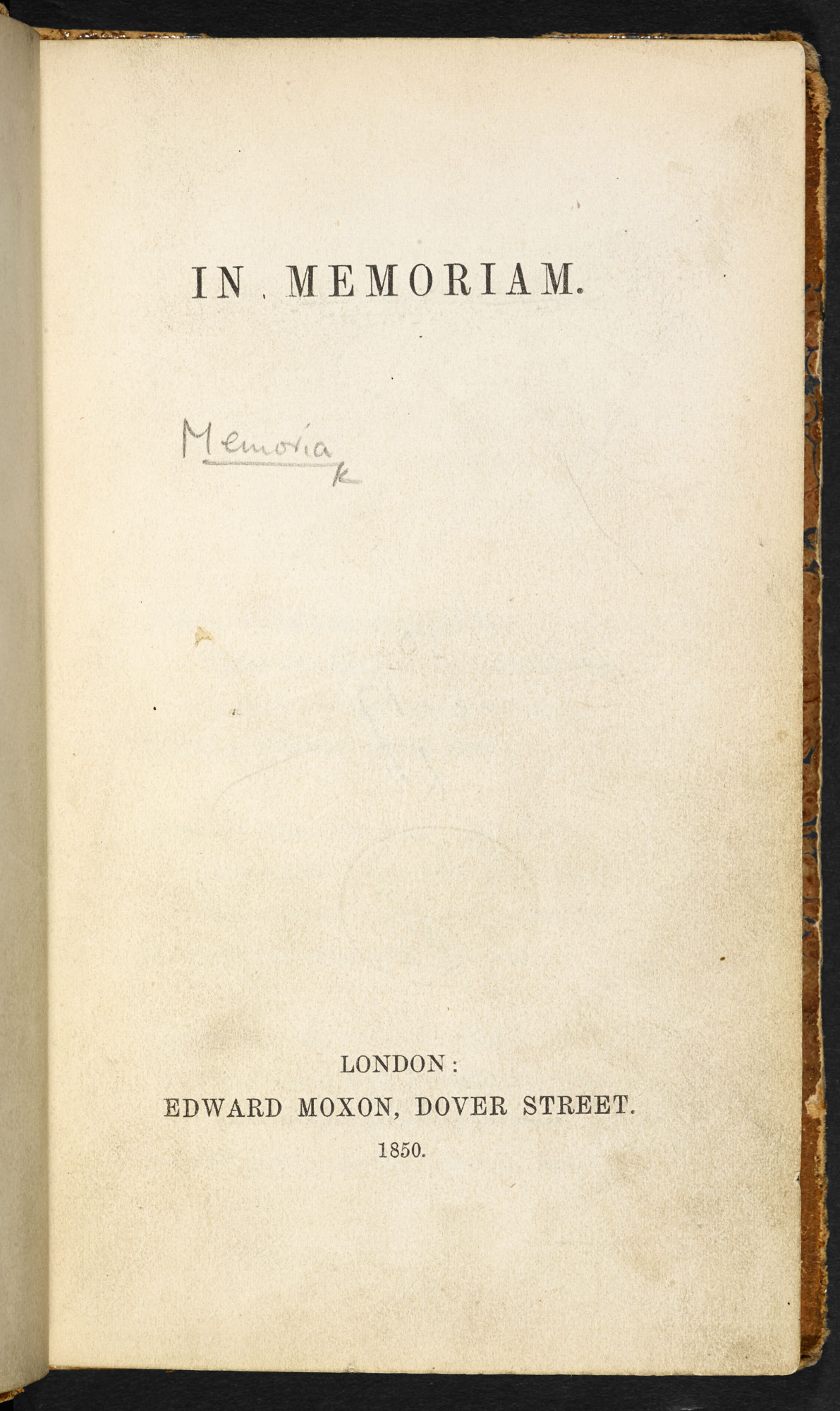 In Memoriam A.H.H. by Alfred Lord Tennyson [page: title page]