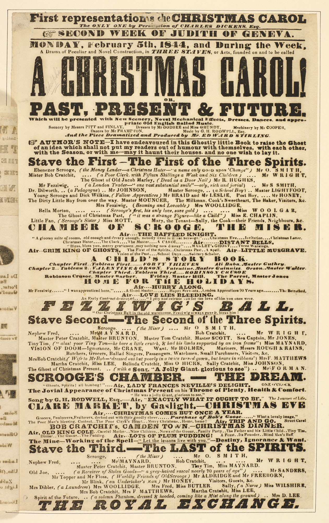 Playbill advertising Edward Stirling's adaptation of A Christmas Carol [page: 117]