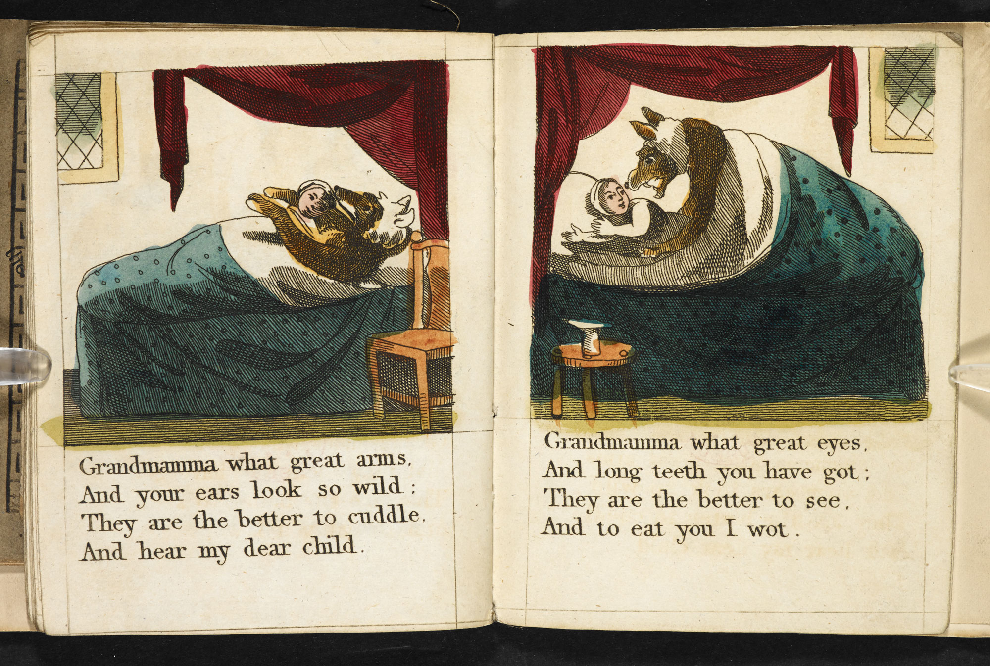 1810 edition of Little Red Riding Hood [page: 11-12]