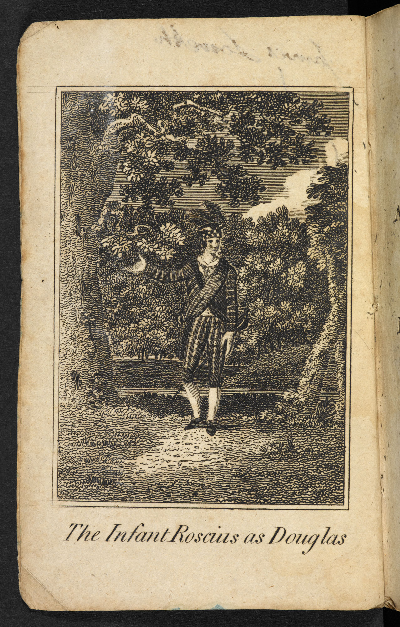 Account of a child actor: Authentic Memoirs of that Wonderful Phenomenon, the Infant Roscius [page: frontispiece]