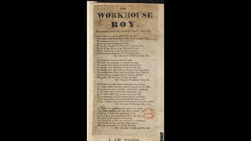 Broadside: The Workhouse Boy [page: vol. I p. 54]