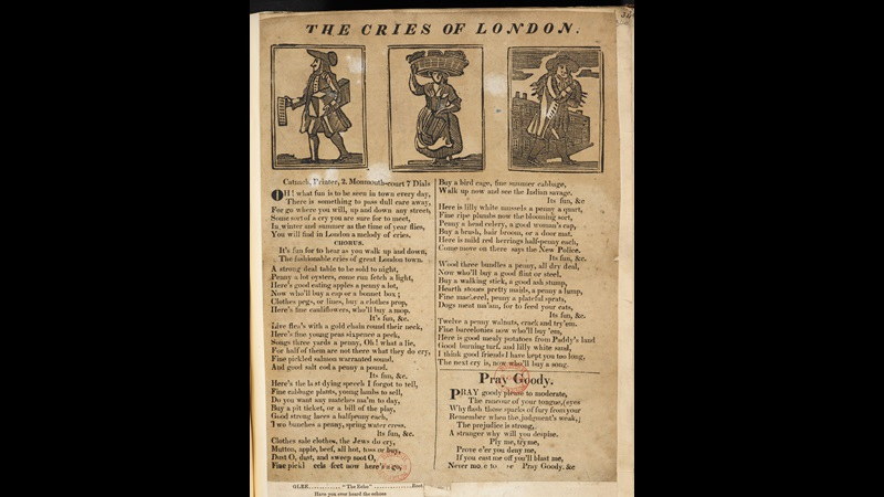 Broadside: The Cries of London [page: vol. I p. 340]