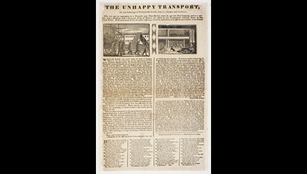 Broadside: The unhappy transport [page: single sheet]