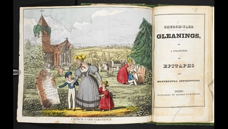 Churchyard epitaphs [page: fold-out frontispiece and title page]