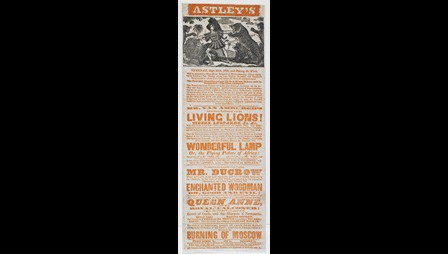 Circus poster: Mr Van Amburgh's Living Lions! [page: single sheet]