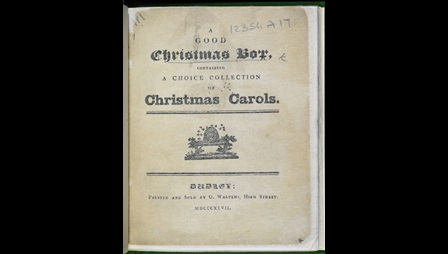 A Good Christmas Box, a collection of carols [page: title page]