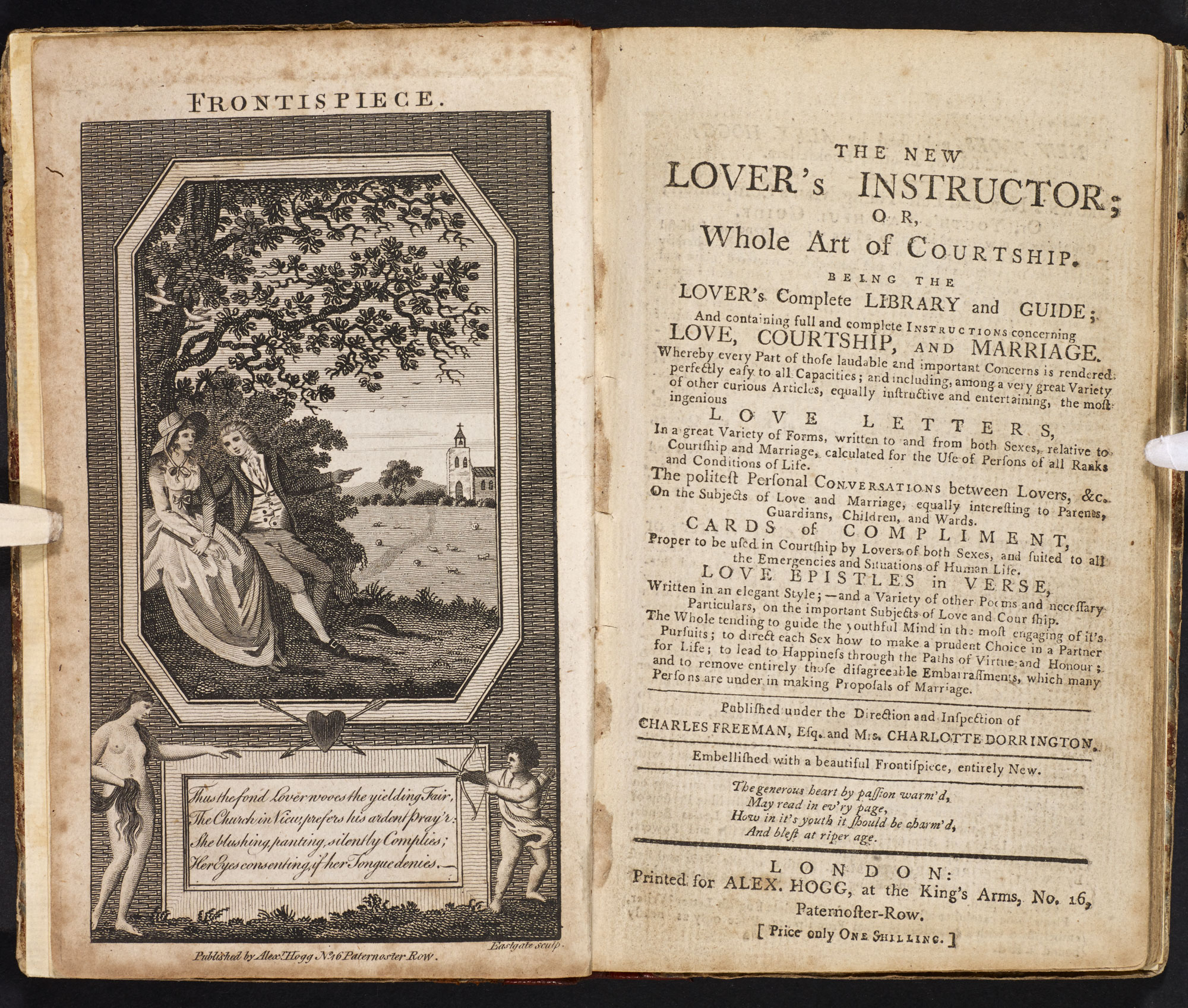 Guide to writing love letters [page: frontispiece and title page]